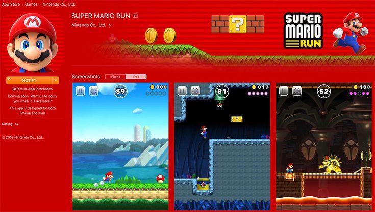 Pour être prévenu de la sortie de Super #Mario Run pour #iOS