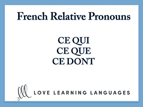 how to learn pronouns in french