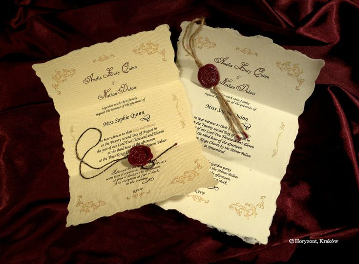 Baroque wedding scrolls