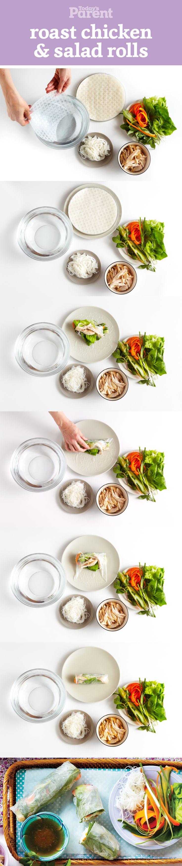 No-Cook Vietnamese Roast Chicken & Salad Rolls