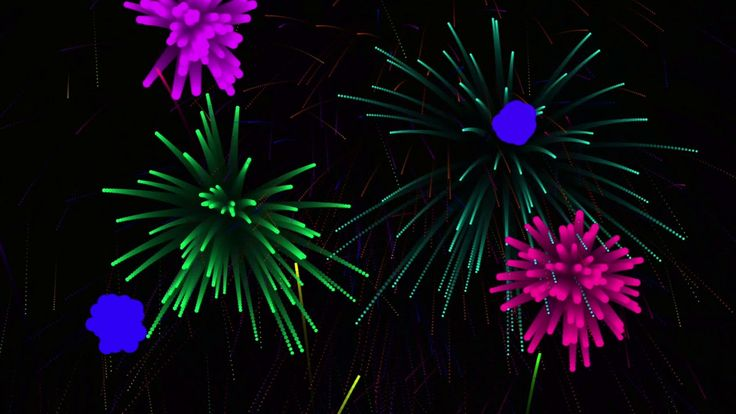 Animated fireworks with sound effects fireworks