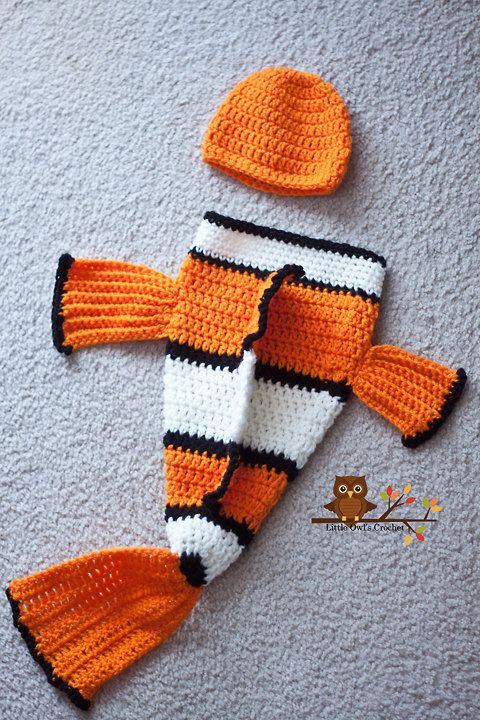 Hey, I found this really awesome Etsy listing at https://www.etsy.com/listing/125488440/crochet-clownfish-hat-and-cocoon-set