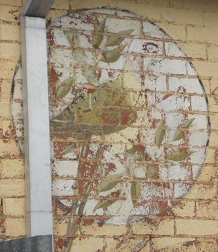 Faded, but still beautiful, Rosella signage