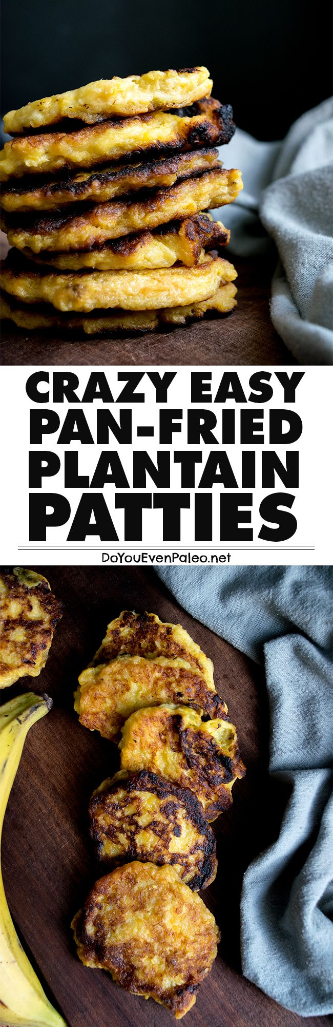 Have some overripe plantains? Whip up these pan-fried plantain patties for a fuss-free solution! Gluten free, paleo, and vegan. | DoYouEvenPaleo.net
