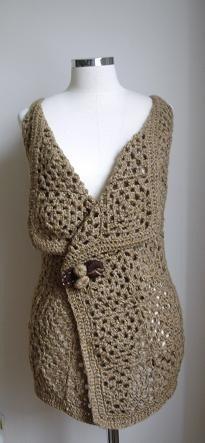 Granny vest - veste toute simple à realiser (very easy to make!)