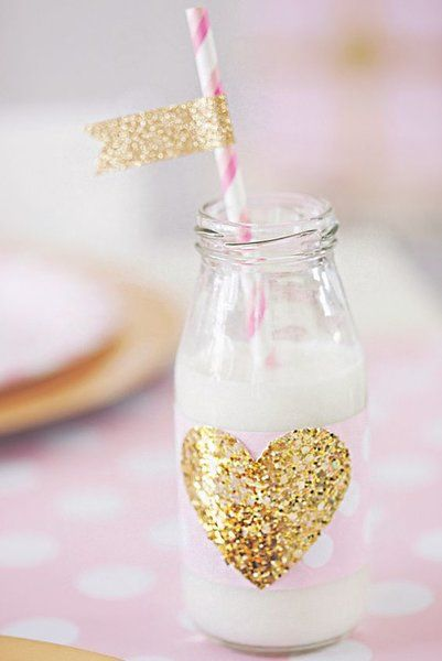 Glitter Flags - Gold Glitter Straws Flag - Glitter Drink Tags | Todo Papel | Color Lace Paper Doilies & Pretty Stationery
