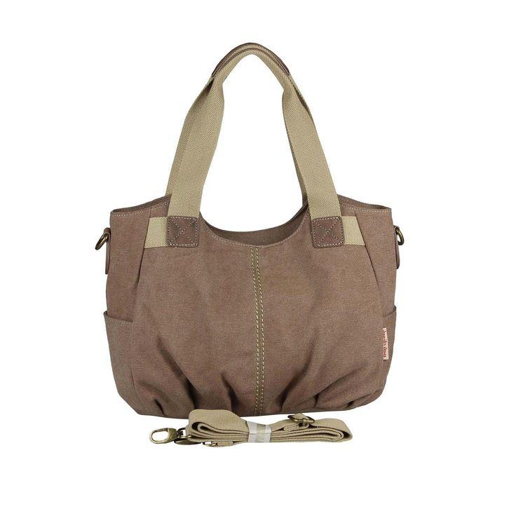 . OBC Damen Canvas Tasche Handtasche Henkeltasche Schultertasche Shopper Umhängetasche CrossOver Stofftasche City Bag Street Beuteltasche…