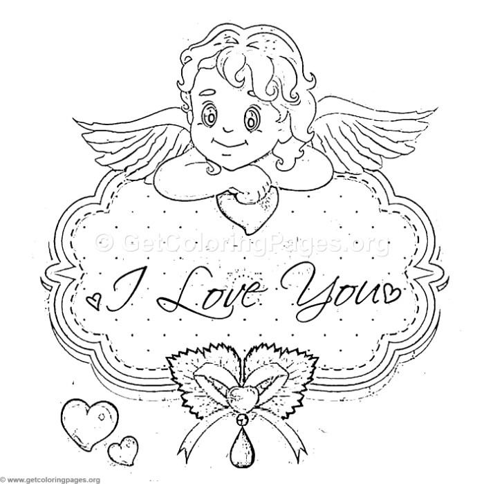 Free Instant Download I Love You Angel Coloring Pages