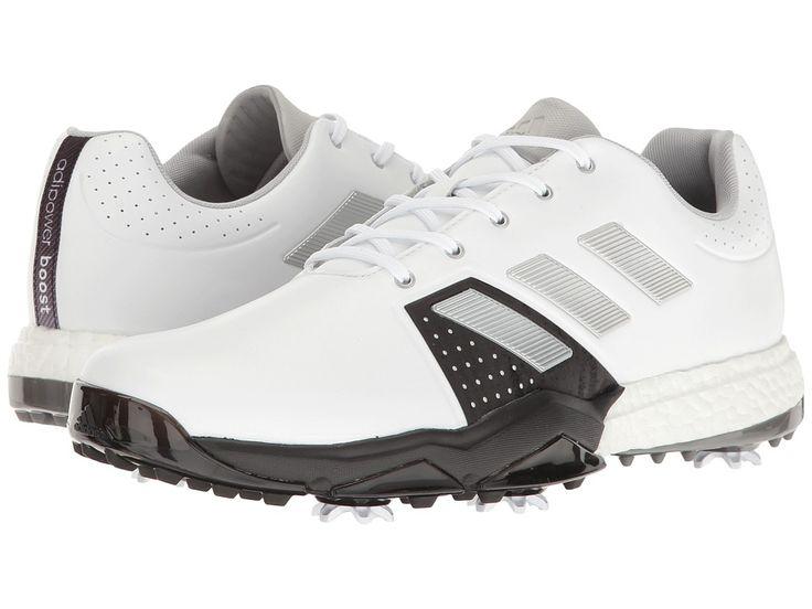 adidas Golf Adipower Boost 3 Men's Golf Shoes Ftwr White/Silver Metallic/Core Black