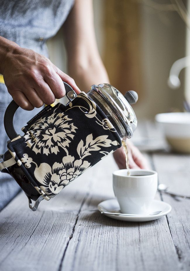French press coffee coats is a darling idea!