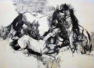 Los caballos de Castagnino