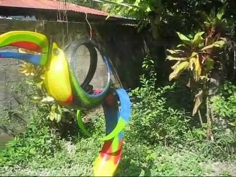macetas hechas de llantas recicladas procedimiento - YouTube