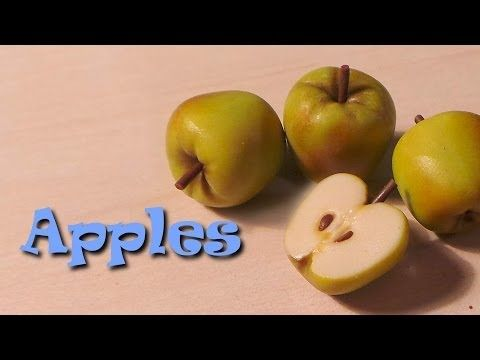 Polymer clay 'miniature' apple tutorial - A simple technique, yet oh so elegant with the finished product. Doll houses, charms or miniatures, useful in so many different ways.