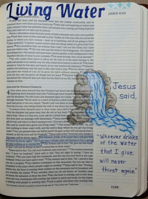 John 4:14. Jesus is the living water. By Paula Kay Bourland