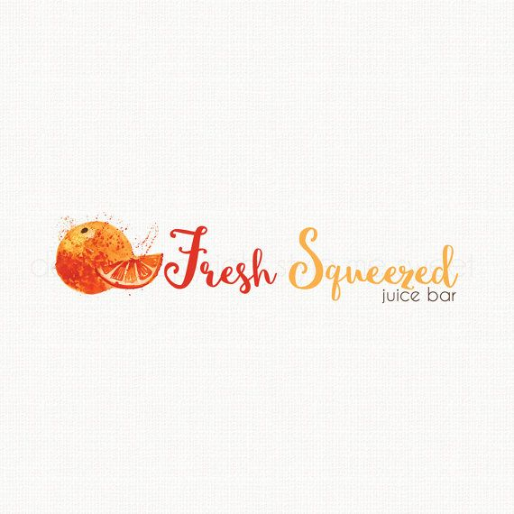 Orange Logo Design Fruit Logo Design by stylemesweetdesign on Etsy