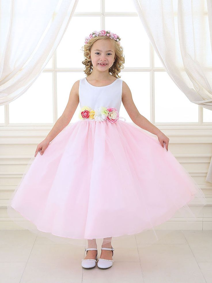 12 best vestidos para niñas images on Pinterest | Kids wedding dress ...