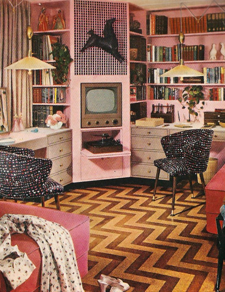 retro pink - Retro Bedroom Design