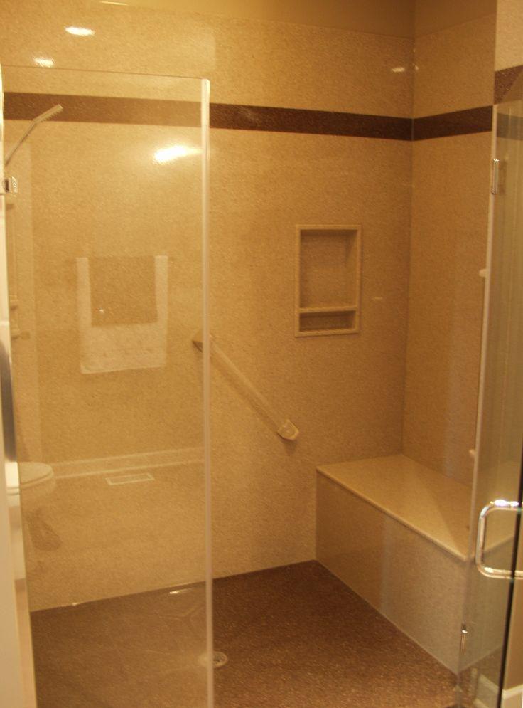 walk in shower with build in bench. Black Bedroom Furniture Sets. Home Design Ideas