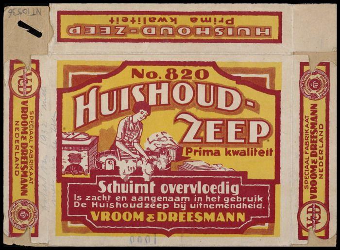 Packaging design - Vroom & Dreesmann Huishoudzeep (±1895-1919) Nijmegen, The Netherlands