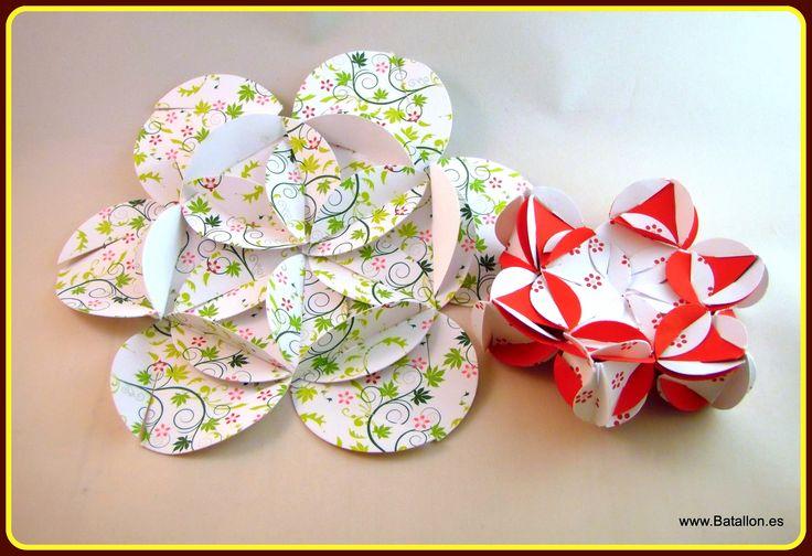 Unas flores de papel