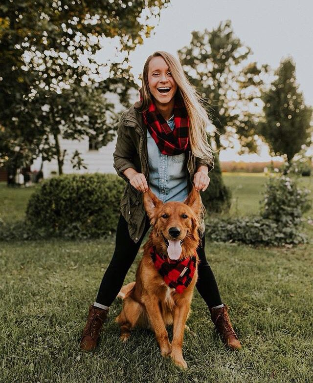 Hoot and Co: matching scarf to dog bandana  https://hootandco.com/ - Tap the pin for the most adorable pawtastic fur baby apparel! You'll love the dog clothes and cat clothes! <3