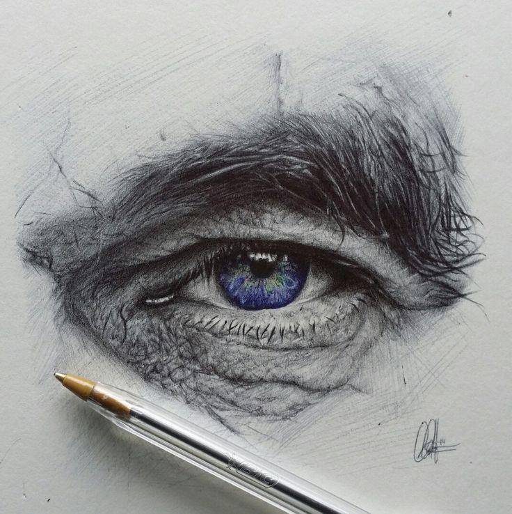 "Eye Study, ballpoint, 4x4"""