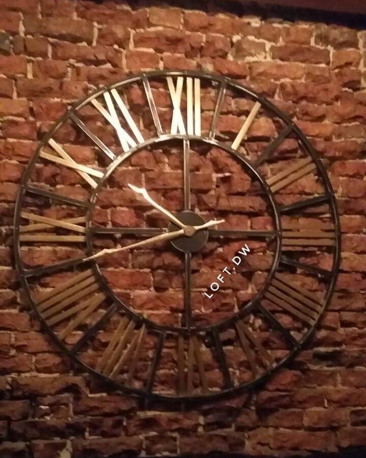 <b>Часы настенные</b> в индустриальном стиле. #<b>часы</b> #лофт ...