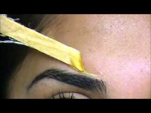 How to wax your eyebrows tutorial