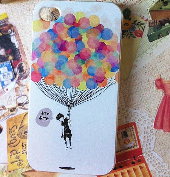 iphone 4 case, iphone 4s case, banksy fly girl iphone case for iphone 4&4s, iphone cover. $11.85, via Etsy.