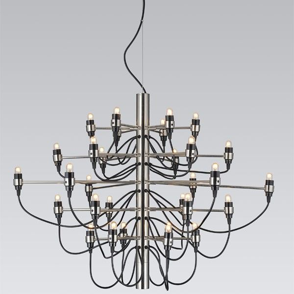 Gino Sarfatti chandelier 2097 by Flos - 2097/30 brass or chrome for choice