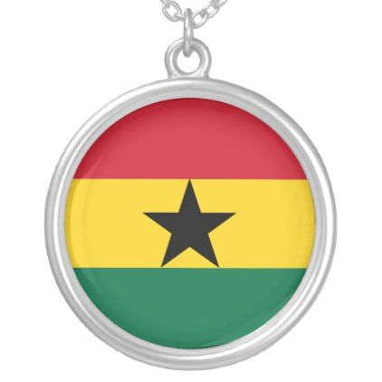 Ghana Flag Silver Plated Necklace - jewelry jewellery unique special diy gift present