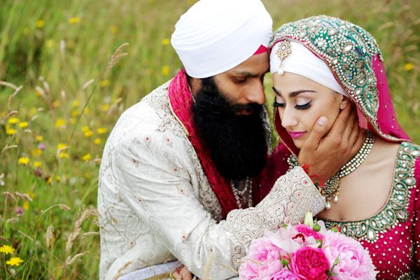 coloful and creative wedding photos of South Asian wedding by Chris+Lynn | via junebugweddings.com