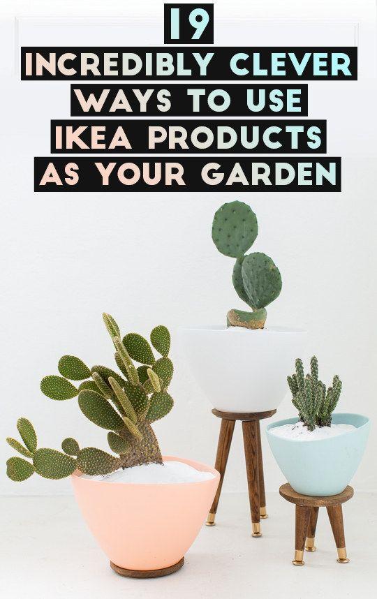 19 ideeën om Ikea producten te gebruiken voor je tuin