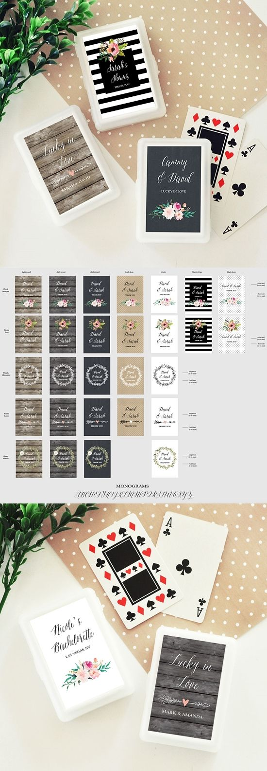 Event Blossom Personalized Playing Cards with Floral Garden Designs | Personalized Gifts and Party Favors