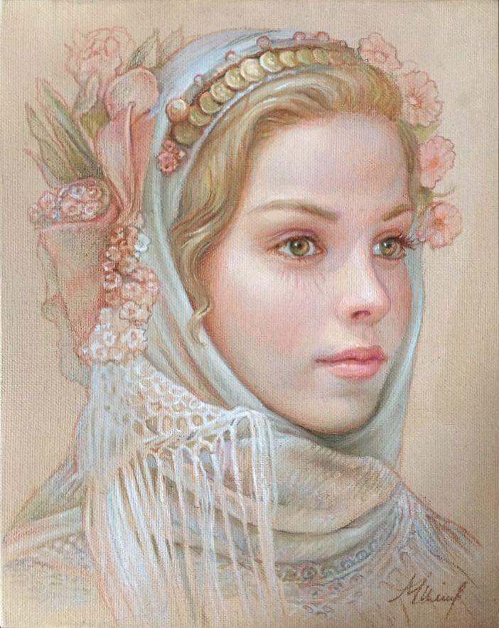 Dreaming-Huile-sur-toile-15-x-12-cm-Maria-Ilieva.jpg (702×884)