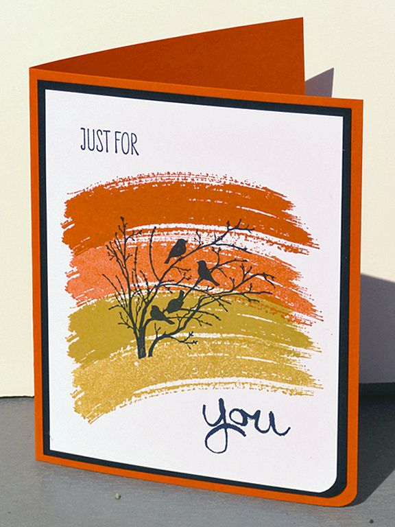 Just for You, Stampin' Up!, Work of Art stamp set, Serene Silhouettes stamp set, 2014/16 In-Colors, see also http://heidistampinalong.blogspot.ca/2014/05/all-that-new-stuff.html