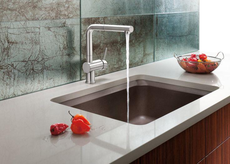 kitchenmodern kitchen sinks with single handle high arc pulldown kitchen high end modern kitchen - Kitchen Design Sink