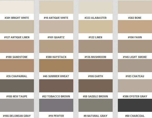 Fusion Pro Color Chart - Grout colors