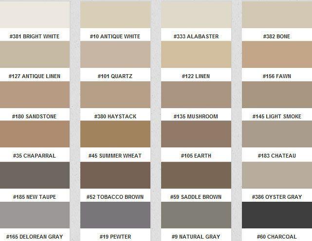 Fusion Pro Color Chart - Grout colors