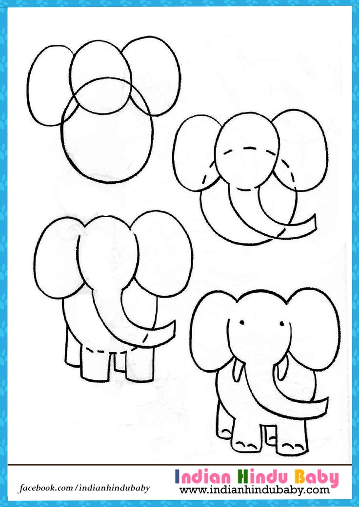 teach your kid to draw elephant with simple drawing tips https
