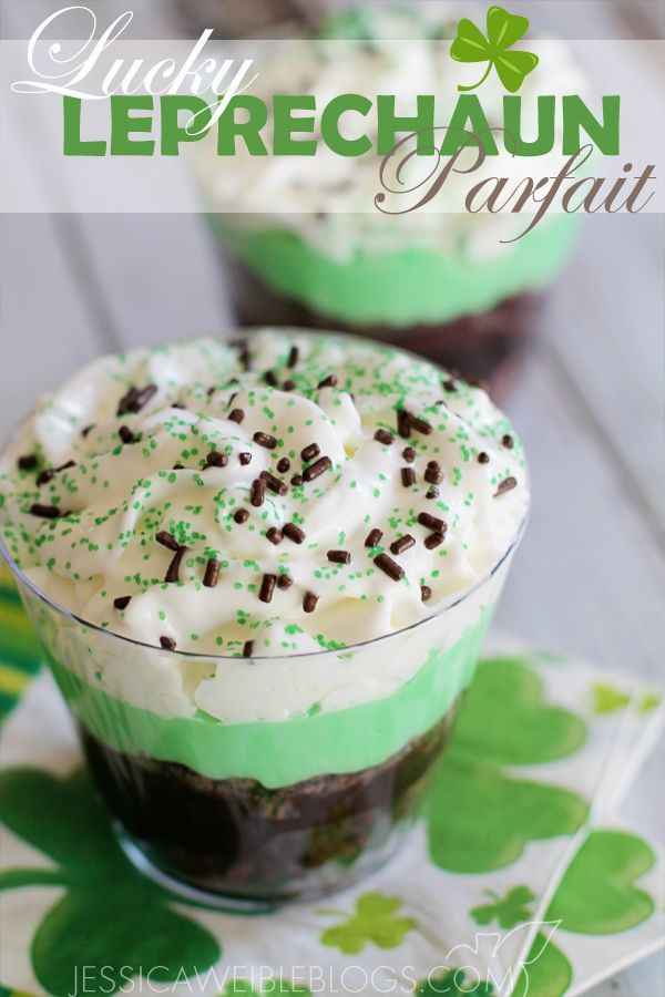 Lucky Leprechaun Parfait - fun little treat for the kids during St. Patricks Day!