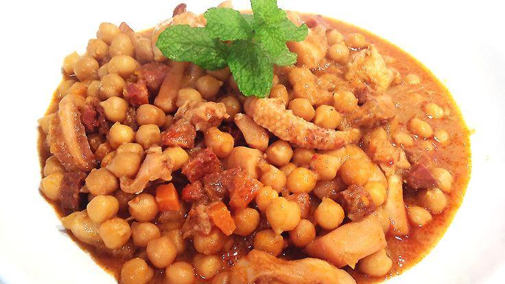 Cocina Muy Sencilla: POTAJE DE CHOCO CON GARBANZOS