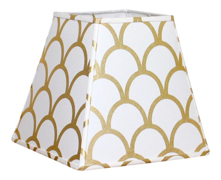 Caitlin Wilson Gold Scallop Modern Lamp Shade on Chairish.com