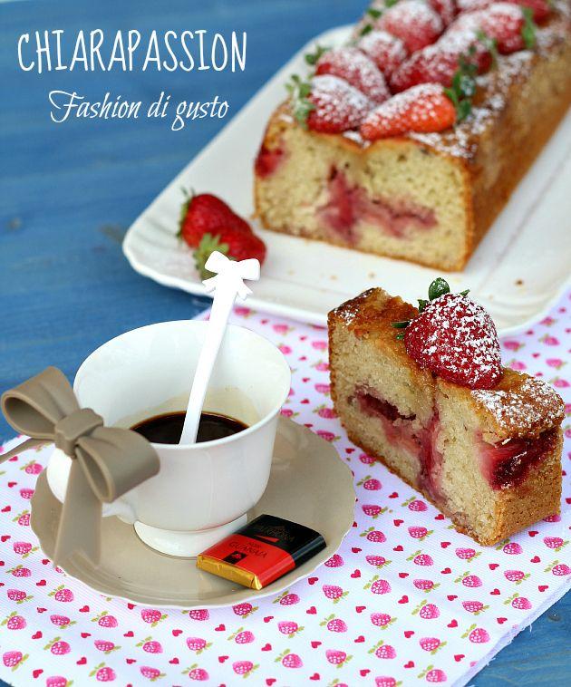 Cake yogurt e fragole   Chiarapassion
