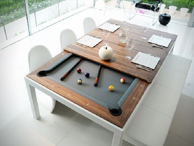 25 best ideas about pool table dining table on pinterest - Snooker table dining table combination ...