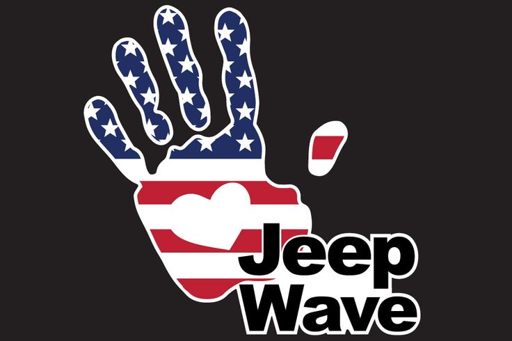 """Jeep Wave 7"""" Full Color Window or Body Work Decal for your Jeep Wangler (all years) Measures 7"""" High x 7"""" Wide Precision cut and gloss laminated for scratch resistance and 8 year outdoor UV Protection"""