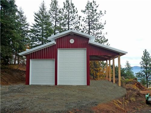 Lean to on one side outside my country home pinterest for Barn shaped garage