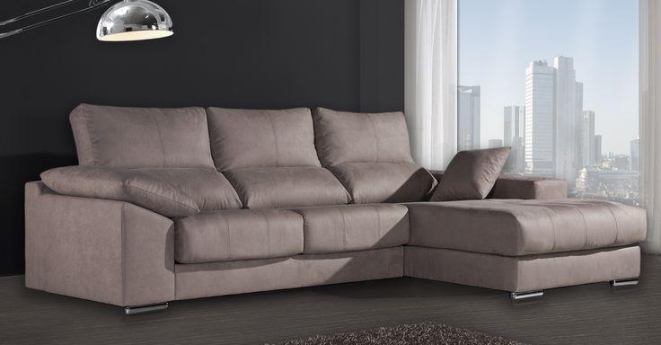 Sofá chaiselongue Goya de GS sofás. Sofás económicos pero de gran calidad made in Spain.