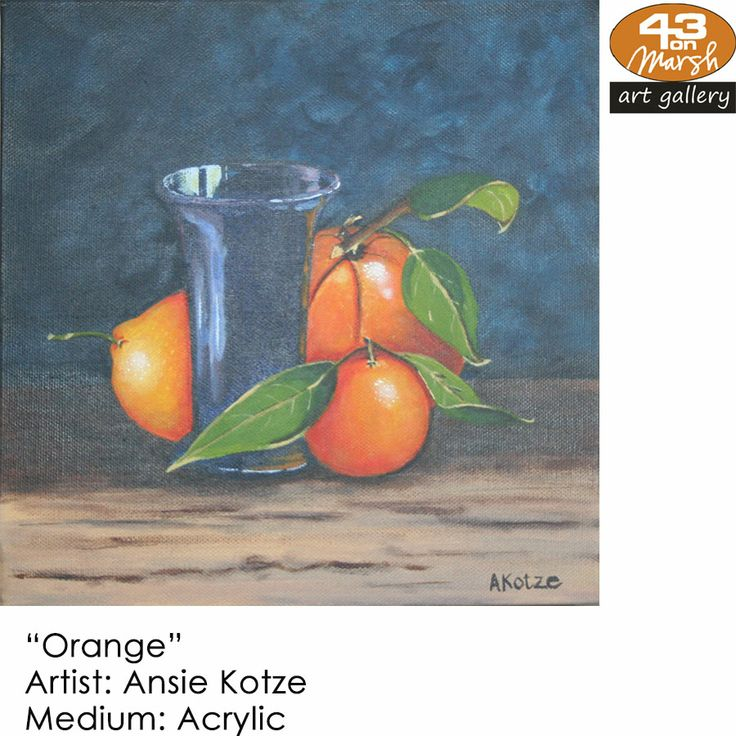 """Orange""  Acrylic on canvas by Ansie Kotze Contact 43 on Marsh #ArtGallery should you be interested in a work: 083 390 8000 #art #artist, #painting"
