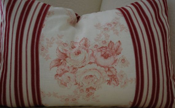 12x18 Ralph Lauren/Laura Ashley Fabric Pillow by CottageShades, $38.00